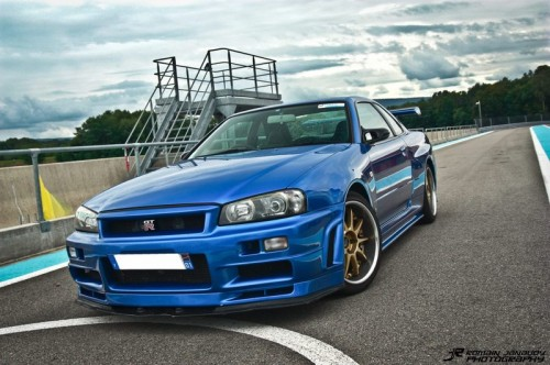 R34 with LHD headlight