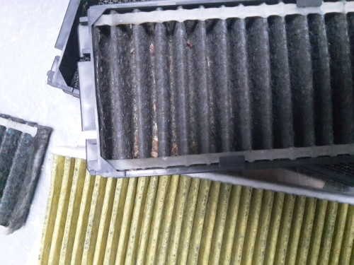 R34 old & new cabin air filter